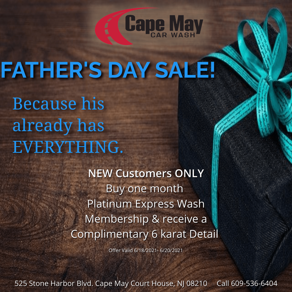 Cape May Car Wash & Detail Center: 525 Stone Harbor Blvd, Cap May Court House, NJ