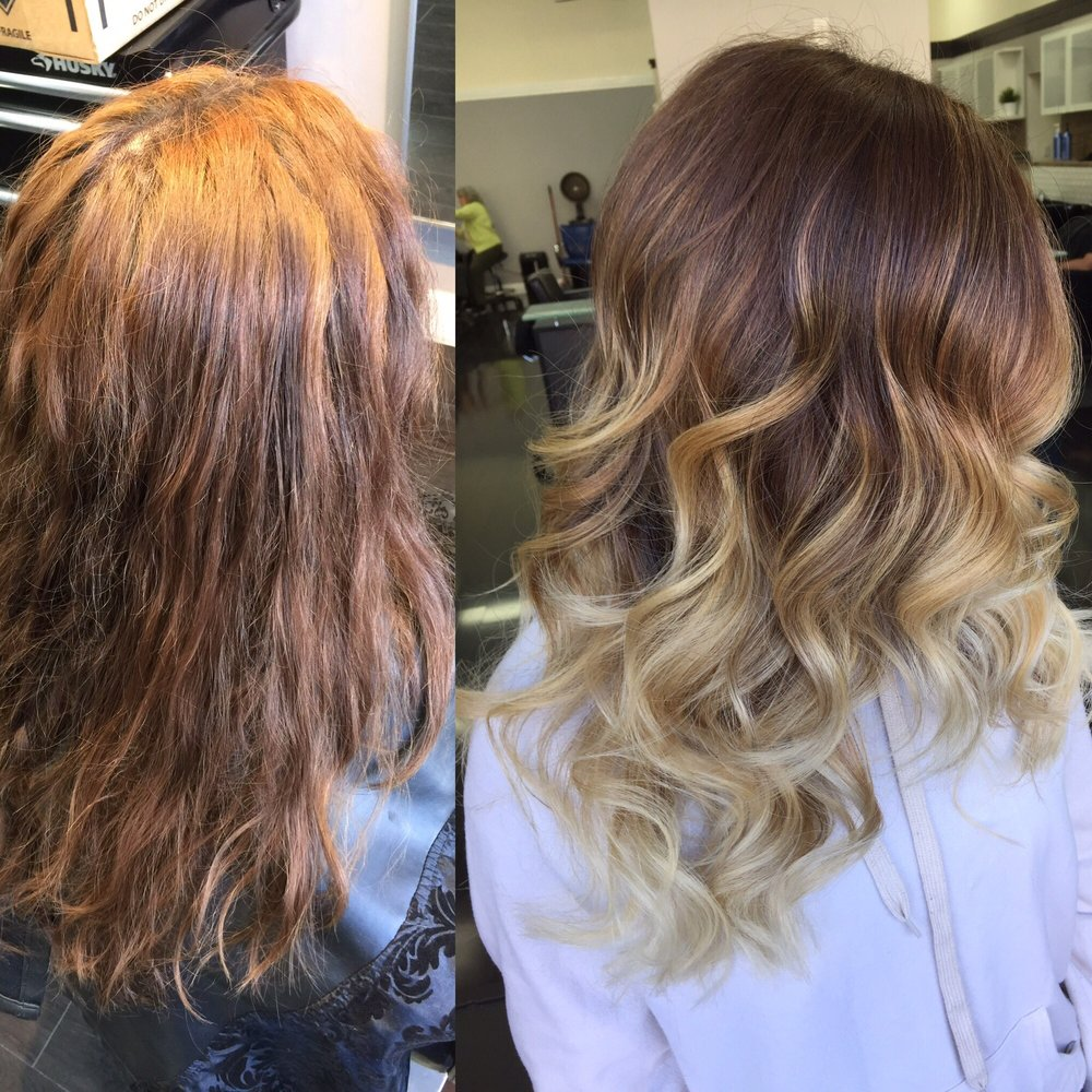 Another angle of that balayage ombr color correction by for 1500 salon alameda