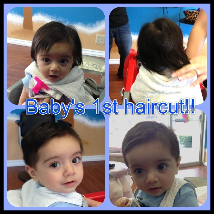 Babys First Haircut Only 6 Months Old What A Sweet Boy Yelp