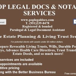 POP Legal Docs Notary Services Divorce Family Law - Free legal docs