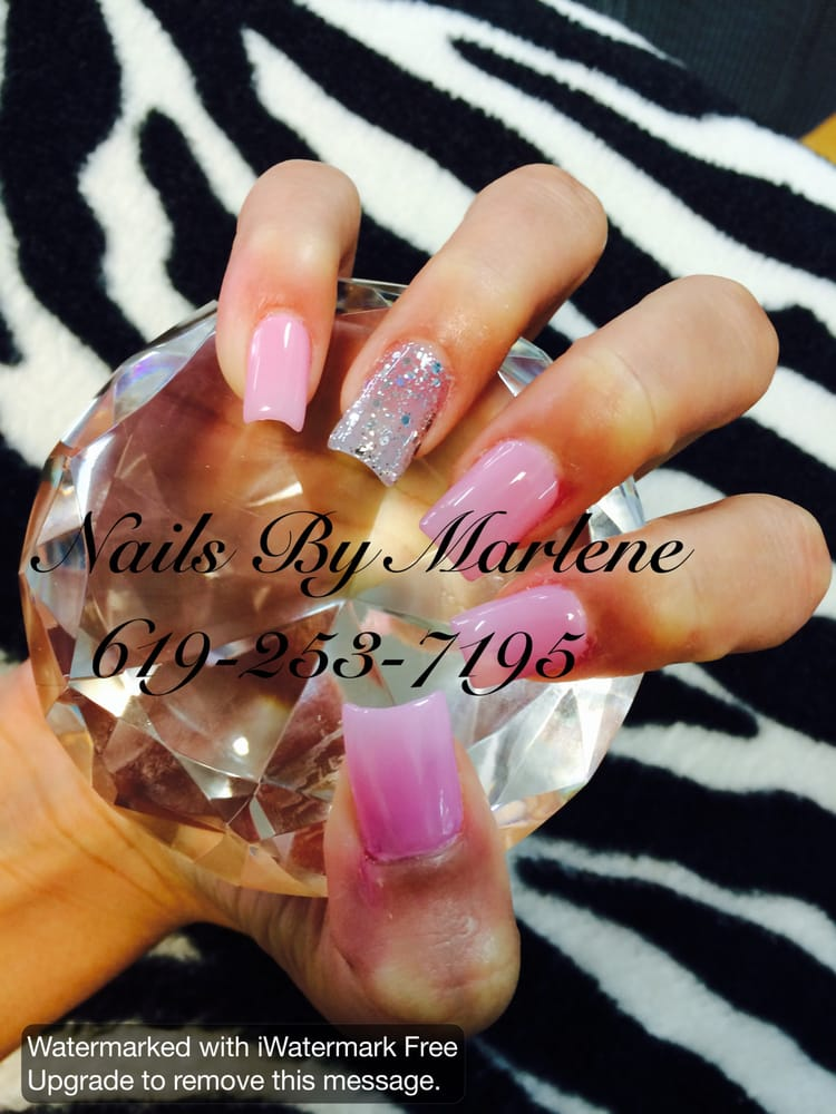 Another beautiful full set if acrylic nails with half moon shape. - Yelp