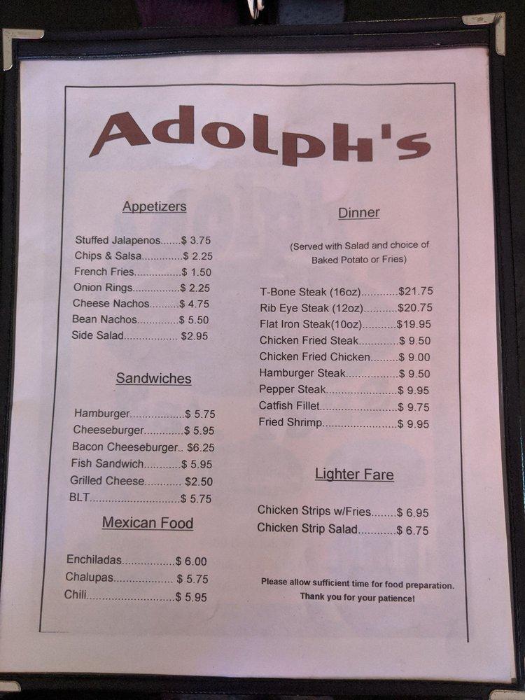 Adolph's Restaurant: 9389 Park Rd 37, Lakehills, TX