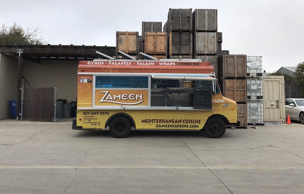 Zameen Mediterranean Food Truck: 7528 Soquel Dr, Aptos, CA