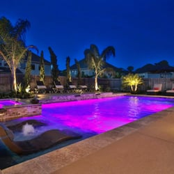 Photo Of Aquascapes Pools And Spas Tomball Tx United States Led Lighting