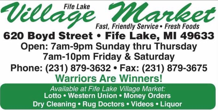 Fife Lake Village Market: 620 Boyd St, Fife Lake, MI