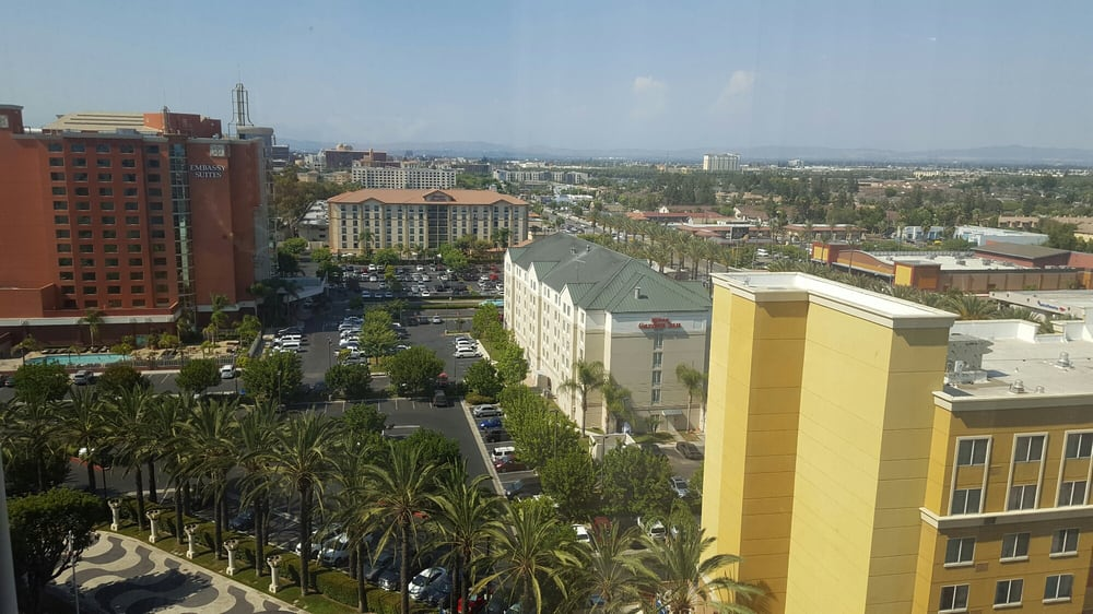 View from room looking toward disneyland yelp - Hyatt regency orange county garden grove ca ...