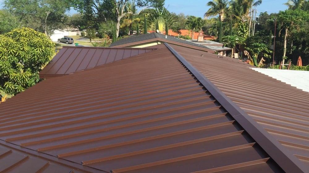 Standing Seam Metal Roof Mansard Brown Color Yelp