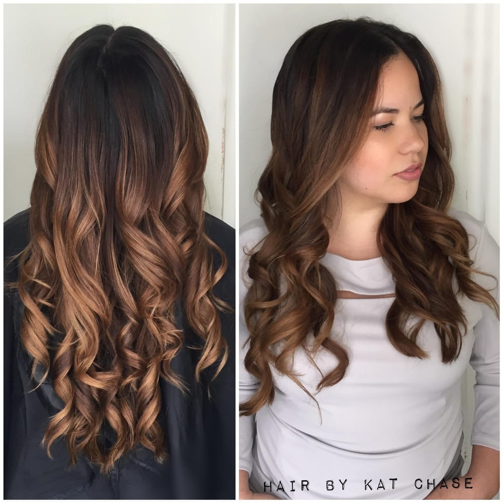 Balayage Caramel Ribbons With Dark Base Yelp