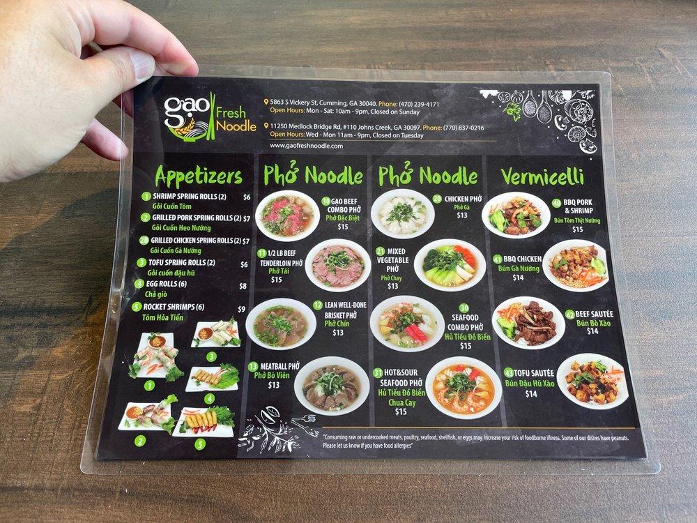 Gao Fresh Noodle: 11250 Medlock Bridge Rd, Duluth, GA