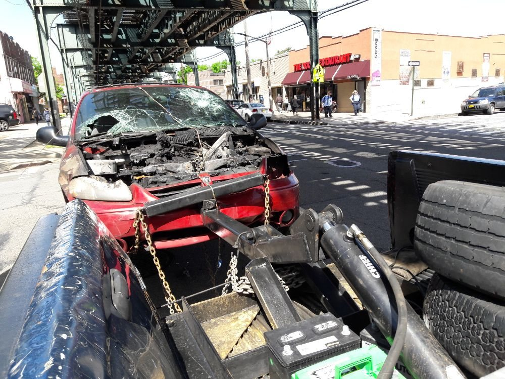This was a vehicle that caught on fire FDNY was call to put out the ...