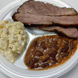 Photo Of Kc John S Bbq Pensacola Fl United States Brisket And Sides