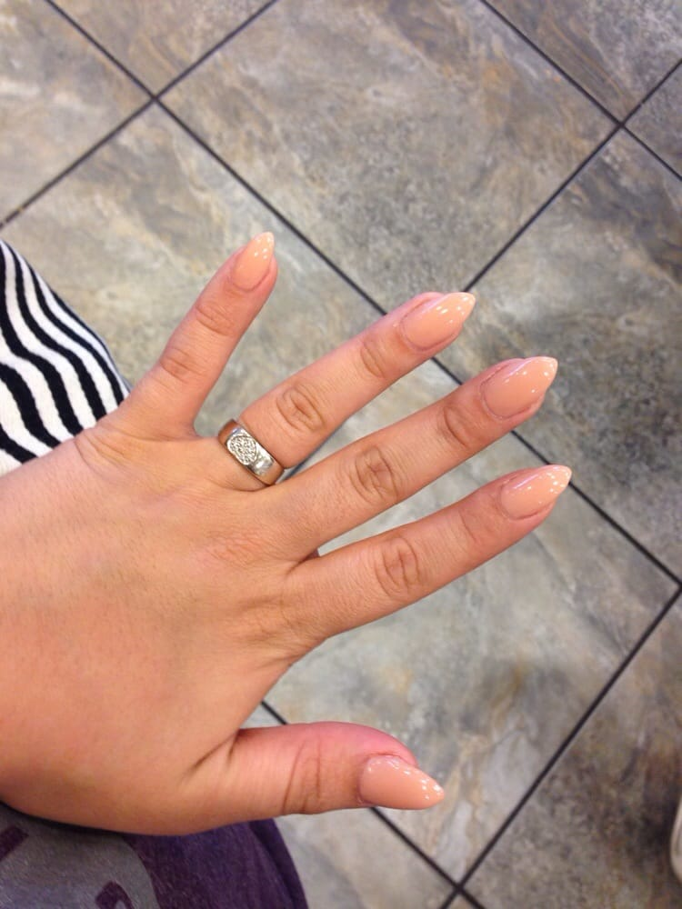 Natural oval pointed gel nail. - Yelp