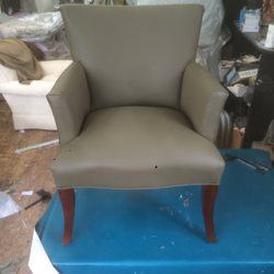 High Quality Photo Of J.D. Upholstery   Chicago, IL, United States. Genuine Leather  Upholstered Chair ...