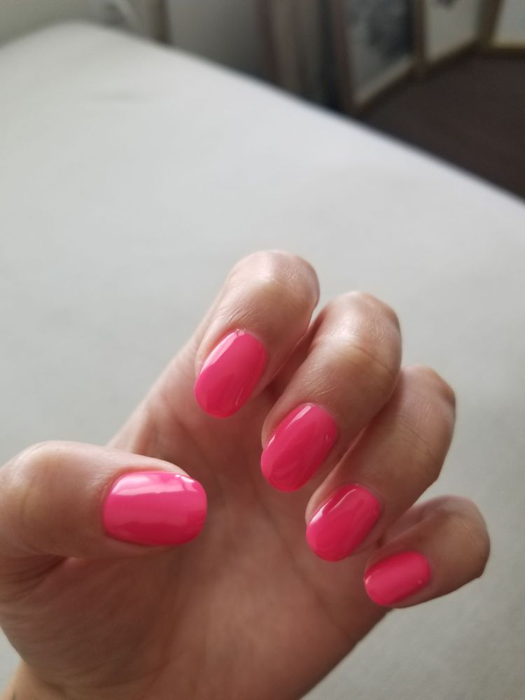 Neon pink gel nail! Love them! - Yelp