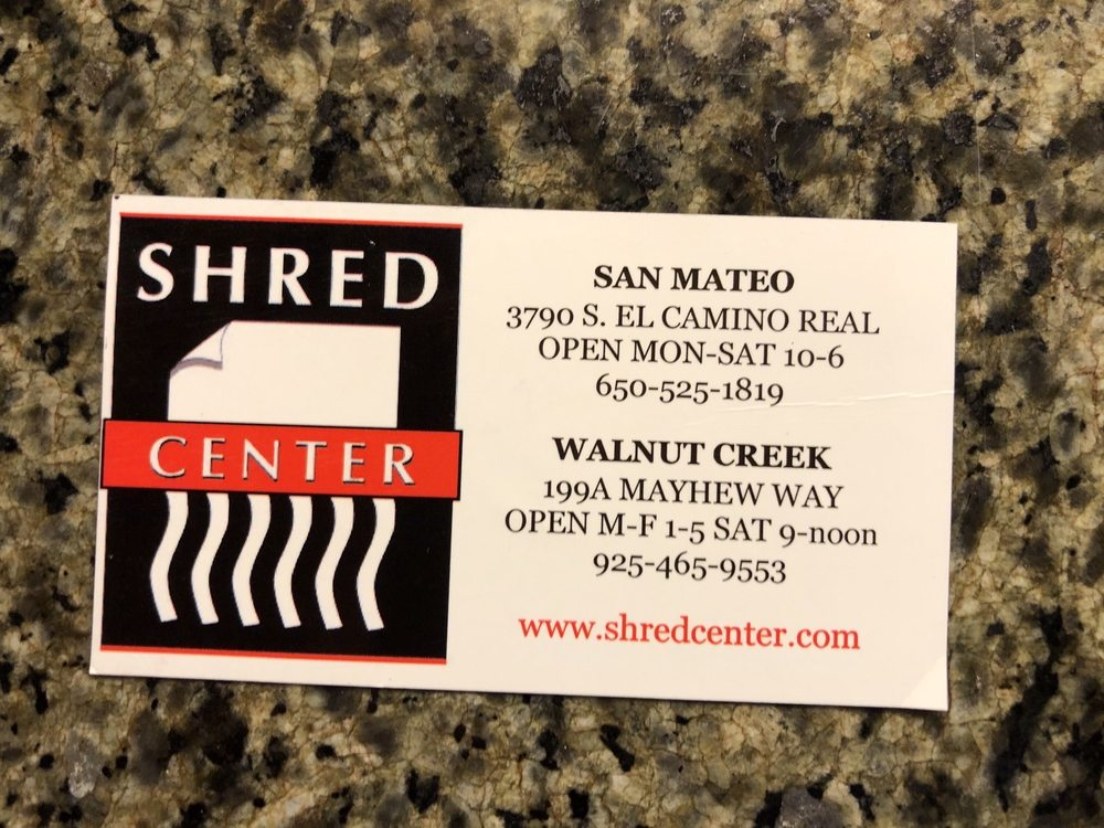 Shred Center - San Mateo: 3790 S. El Camino Real, San Mateo, CA