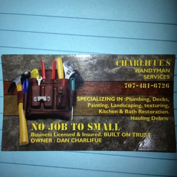 Charlifue's Handyman Services - Handyman - Santa Rosa, CA - Phone ...