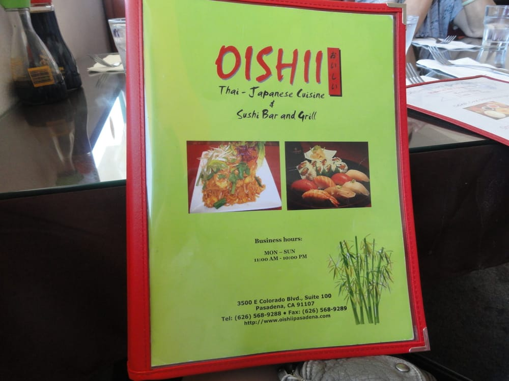Oishii thai japanese cuisine sushi bar and grill for Asian cuisine grimes ia menu