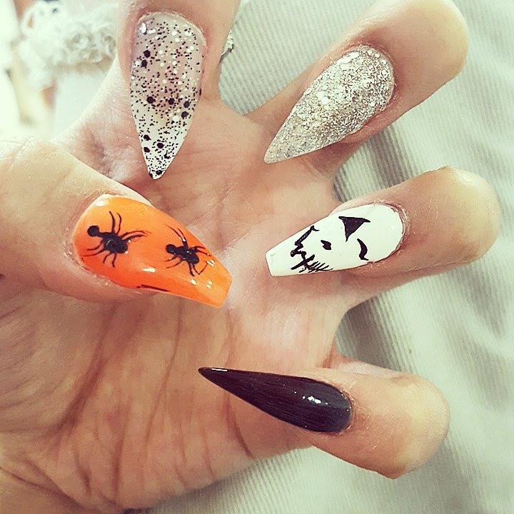 Halloween nails #stilletto #coffin - Yelp