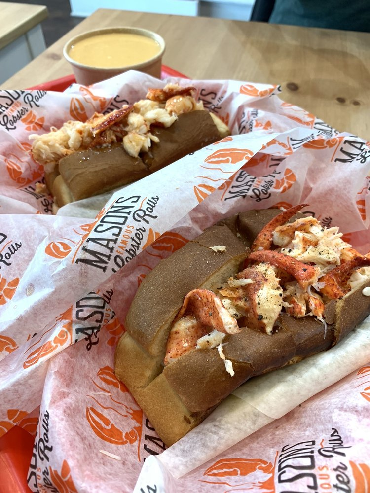 Food from Mason's Famous Lobster Rolls