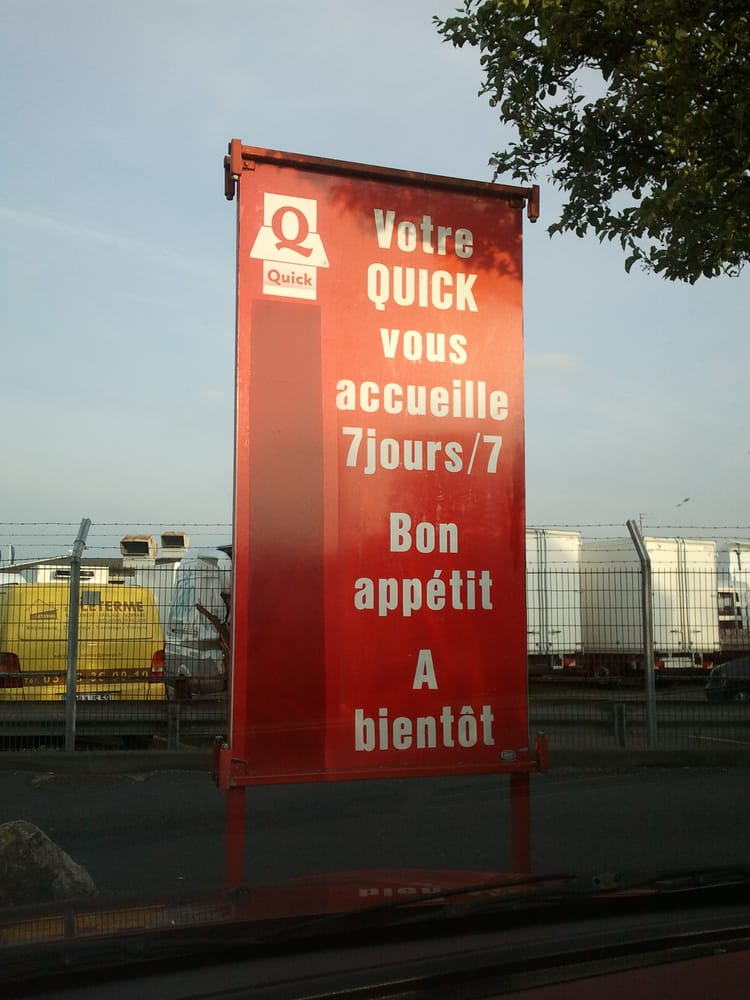 Quick closed fast food centre commercial auchan faches faches thumesnil nord france - Centre commercial auchan faches thumesnil magasins ...