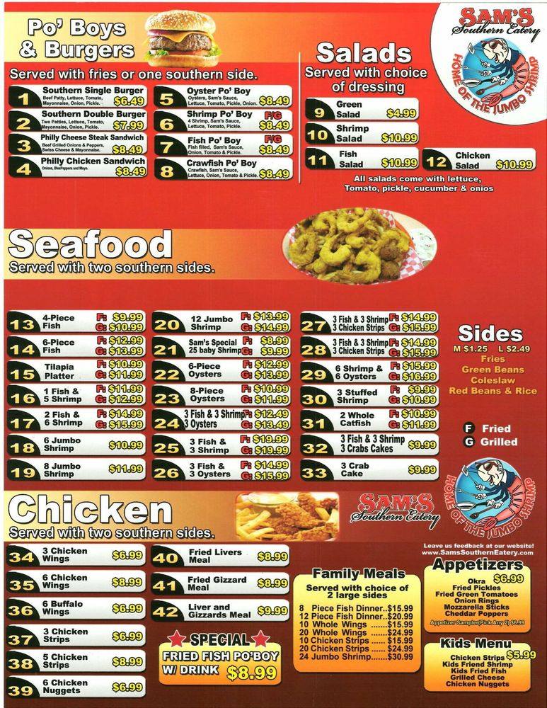 Sam's Southern Eatery: 1002 E 10th St, Okmulgee, OK