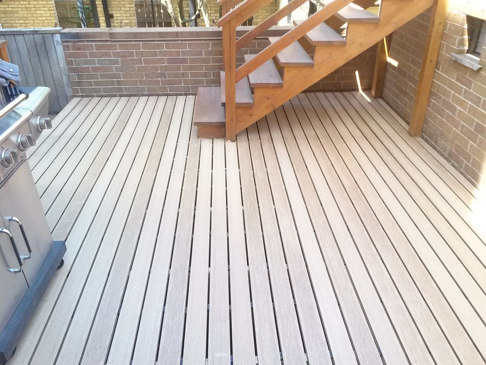 Composite decking with hidden fasteners yelp for Composite deck fasteners