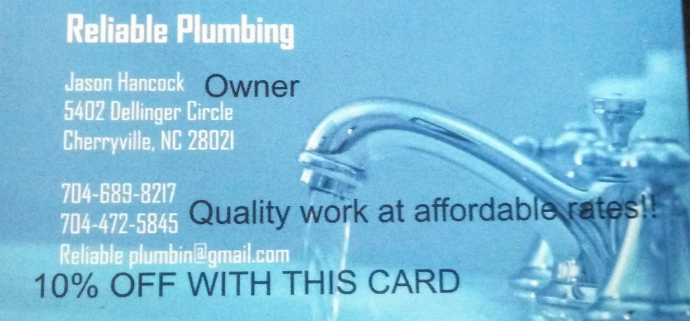 Reliable Plumbing: 5402 Dellinger Cir, Cherryville, NC