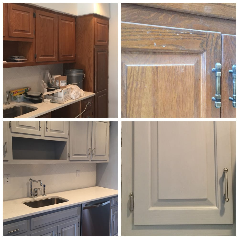 Client Kitchen Cabinets Transformation We Applied Chalk Paint In