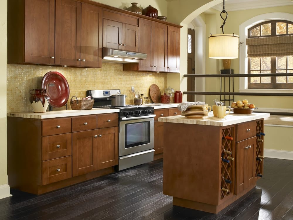 Findley myers montauk cherry kitchen cabinets yelp for Cherry kitchen cabinets