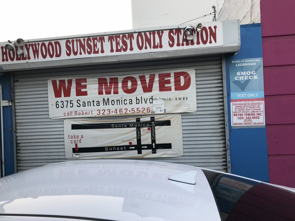 Hollywood Sunset Test Only Station Closed 57 Reviews Smog