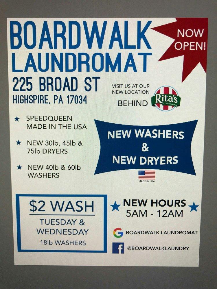 Boardwalk Laundromat: 225 Broad St, Highspire, PA