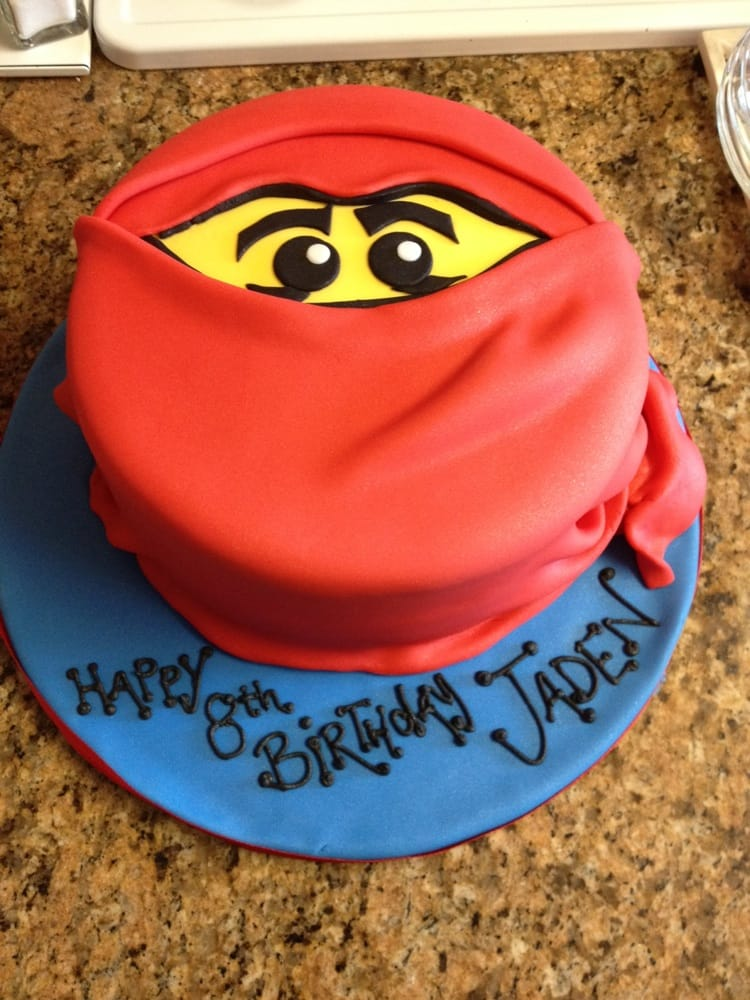 Jadens 8th Birthday Cake Ninjago Everyone Loved It Especially