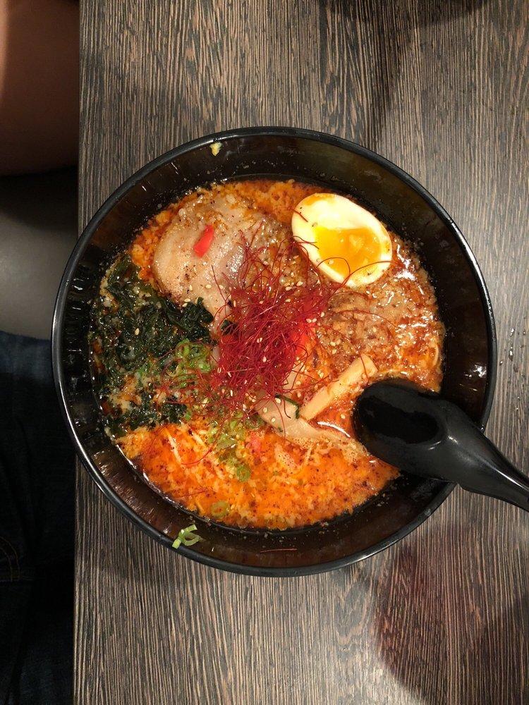 Food from Raijin Ramen