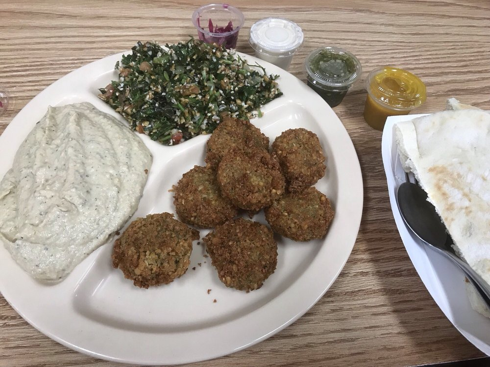 Food from Oasis Falafel