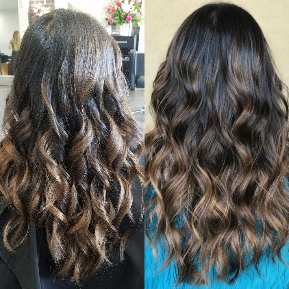 Ash Brown Balayage On Virgin Hair Indoor Vs Outdoor Lighting Cut
