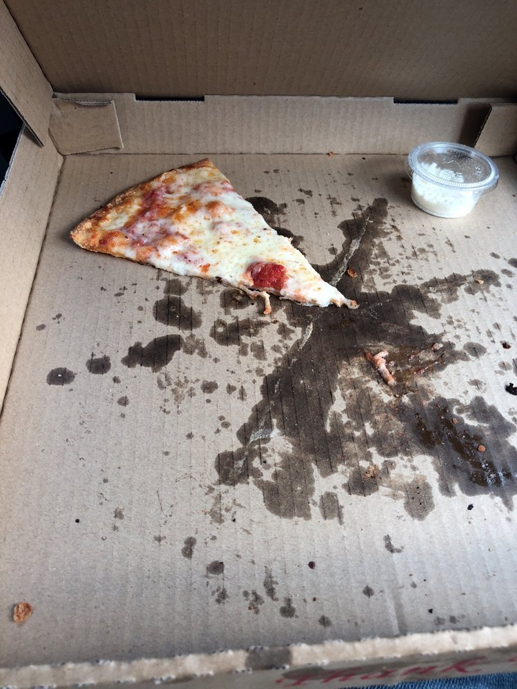 5 Minutes Later We Have One Piece Of Pizza Left It S That