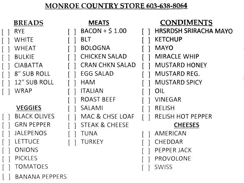 Monroe Country Store: 51 Main St, Monroe, NH