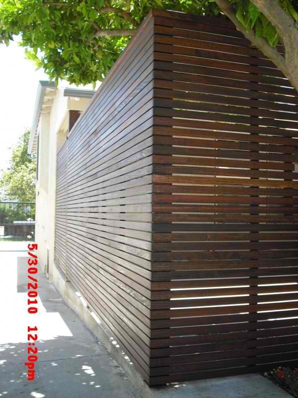 1 Quot X2 Quot Custom Redwood Horizontal Wood Fence Front Porch