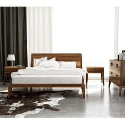 Photo Of Advance Furniture   Buffalo, NY, United States. American Walnut  Platform Bed ...