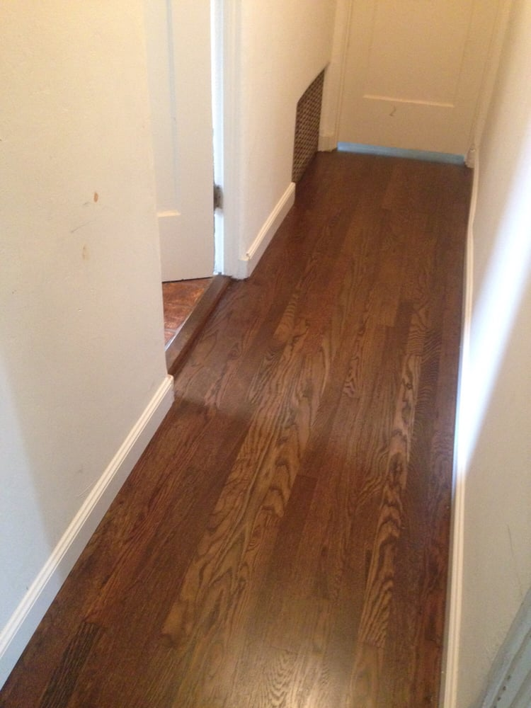 Hallway After With Walnut Stain Yelp