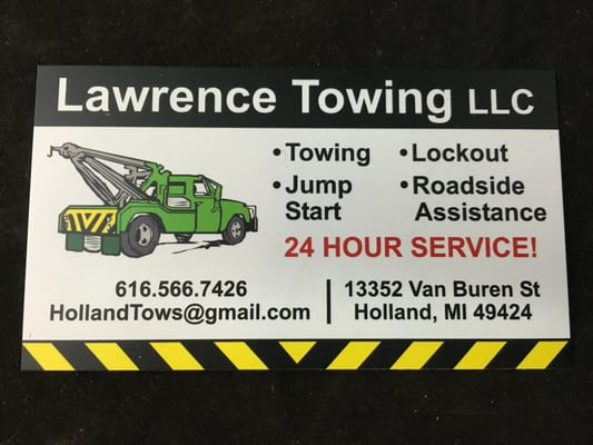 Lawrence towing towing 13352 van buren st holland mi phone photo of lawrence towing holland mi united states business card lawrence reheart Choice Image