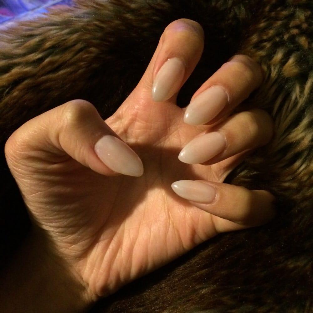$33 nude almond shape acrylic nails. Love them! - Yelp