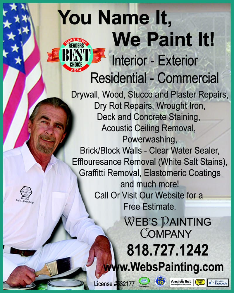 Web S Painting Company Pintores 18543 Devonshire St