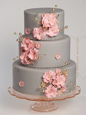 soft pink and silver wedding cakes pink and gray wedding cake yelp 20278