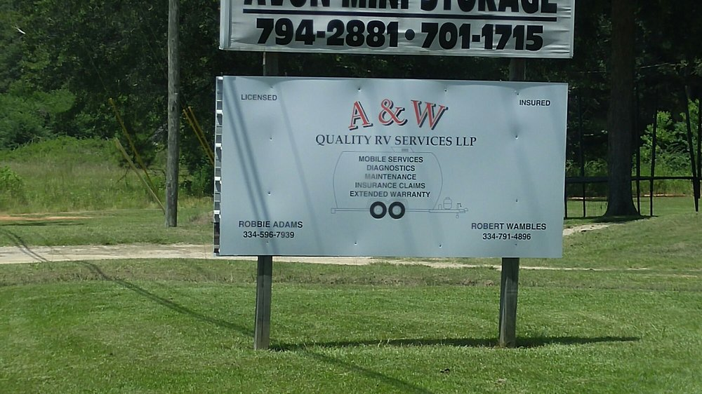 A&W Quality RV Services: 7077 E US-84, Avon, AL