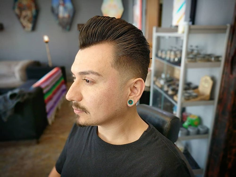 Traditional Pompadour With A 0 Taper Haircut Done By Brian Yelp