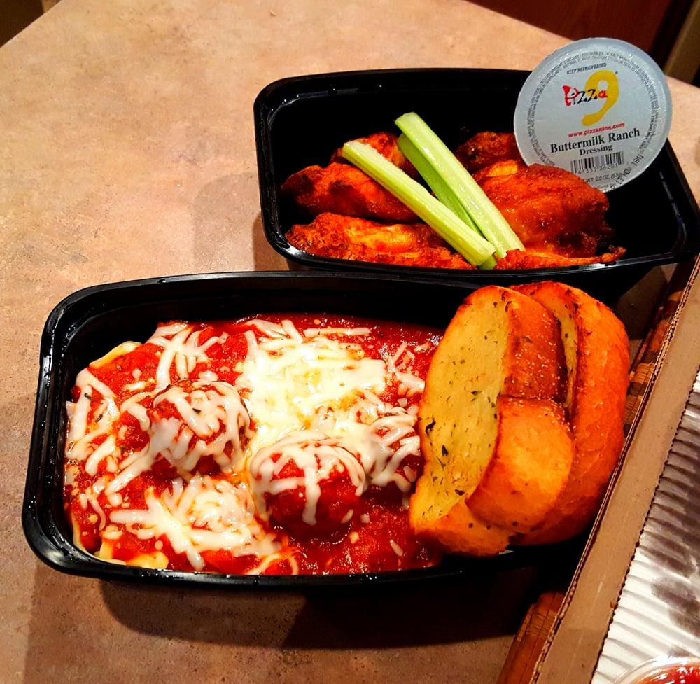 Hot Wings & Spaghetti & Meatballs. Double Deliciousness