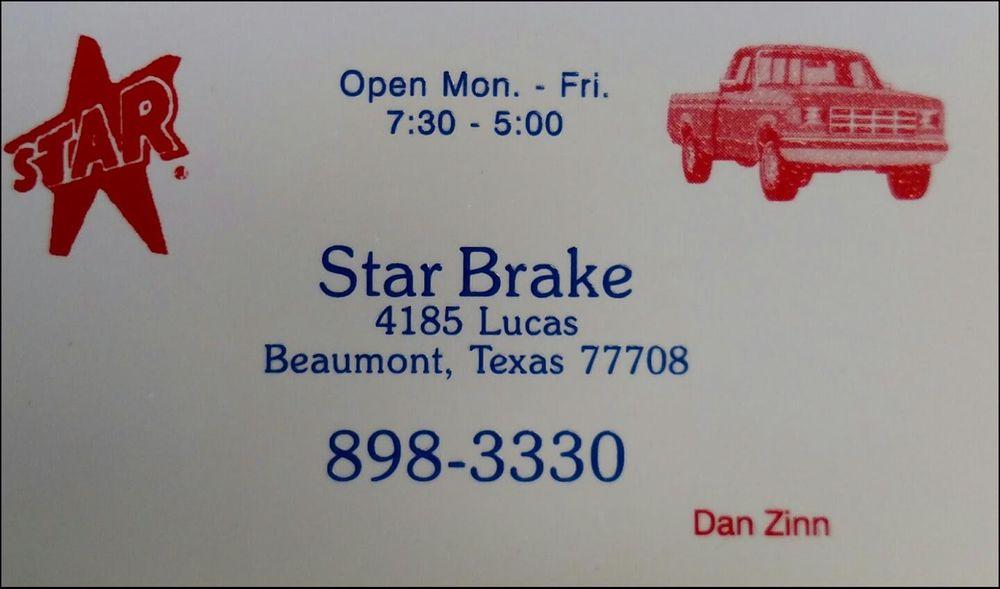 Star Brake & Auto Center: 4185 E Lucas Dr, Beaumont, TX