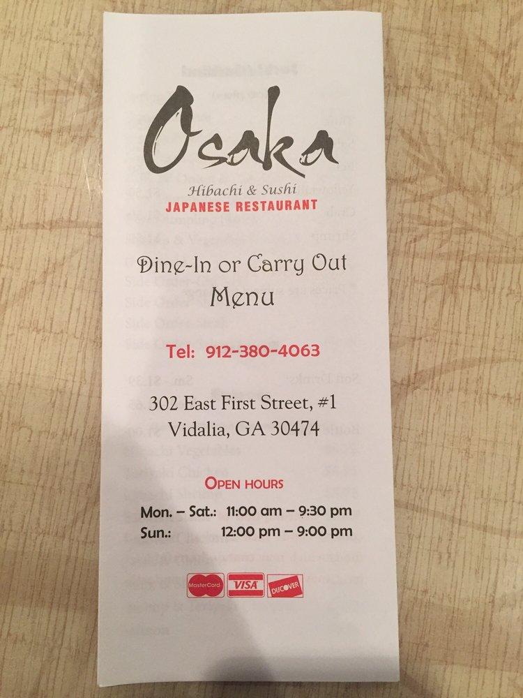 Osaka: 302 E 1st St, Vidalia, GA