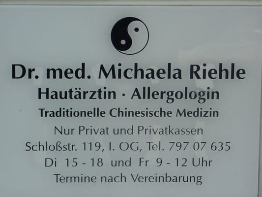 new style 4db54 9d73e Dr. med. Michaela Riehle - Hautarzt - Schloßstr. 119 ...